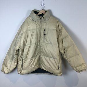 Gap Beige/Cream Coloured Men's Puffer Winter Jacket - Down Filled - Size XXL